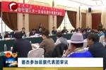 德杰参加翁牛特旗代表团审议