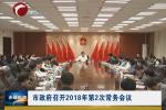 市政府召开2018年第2次常务会议