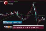 两市股指集体下挫沪指跌0.53%