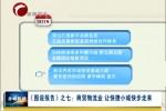 《图说报告》之七 商贸物流业:快捷小城快步走来