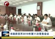 市政府召开2019年第11次常务会议