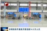 赤喀高铁开通首月客流超14.5万人次