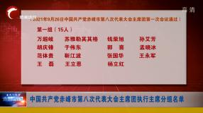 中国共产党赤峰市第八次代表大会 主席团执行主席分组名单