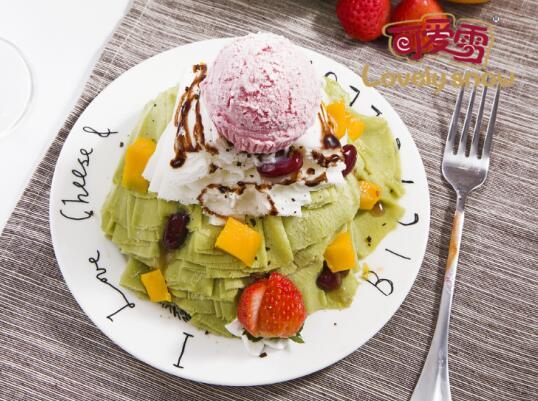 可爱雪冰淇淋 口味香甜生意好