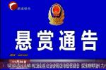 元宝山区公安分局发布悬赏通告 喊你来举报