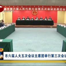 市六届人大五次会议主席团举行第三次会议