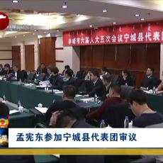 孟宪东参加宁城代表团审议